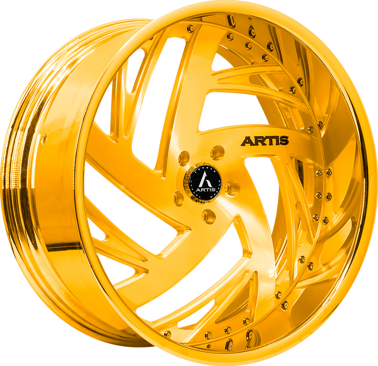 Artis Forged Southside-M wheel with Gold finish