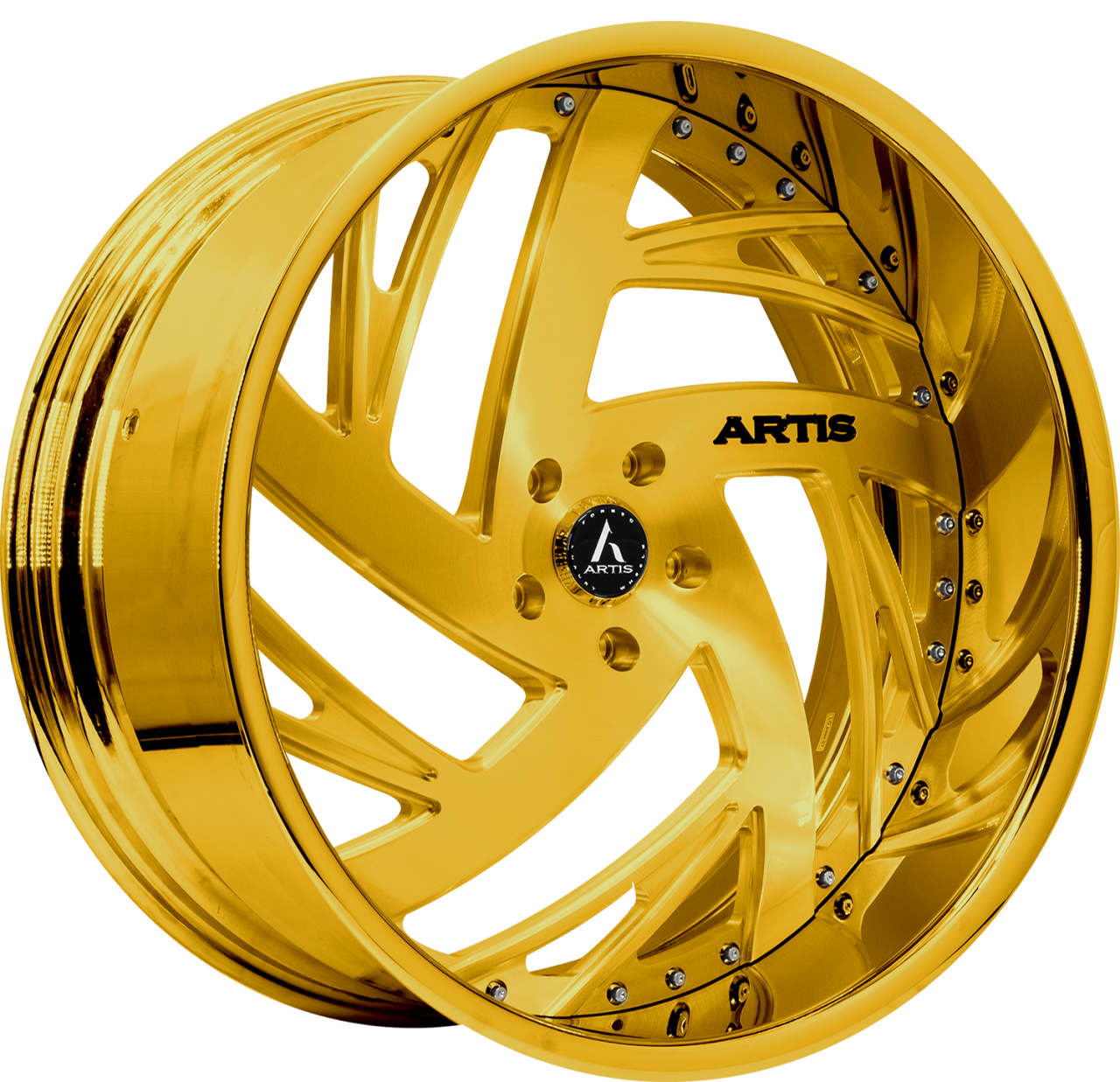 Artis Forged Southside wheel with Custom Gold finish