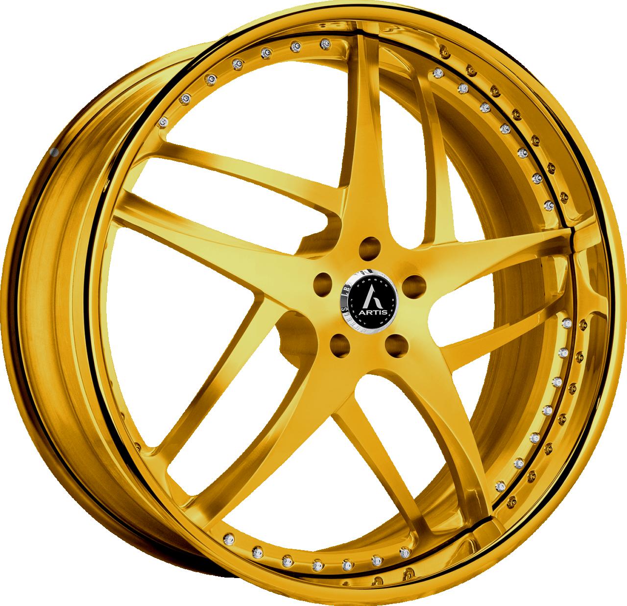 Artis Forged Bavaria wheel with Custom Gold finish