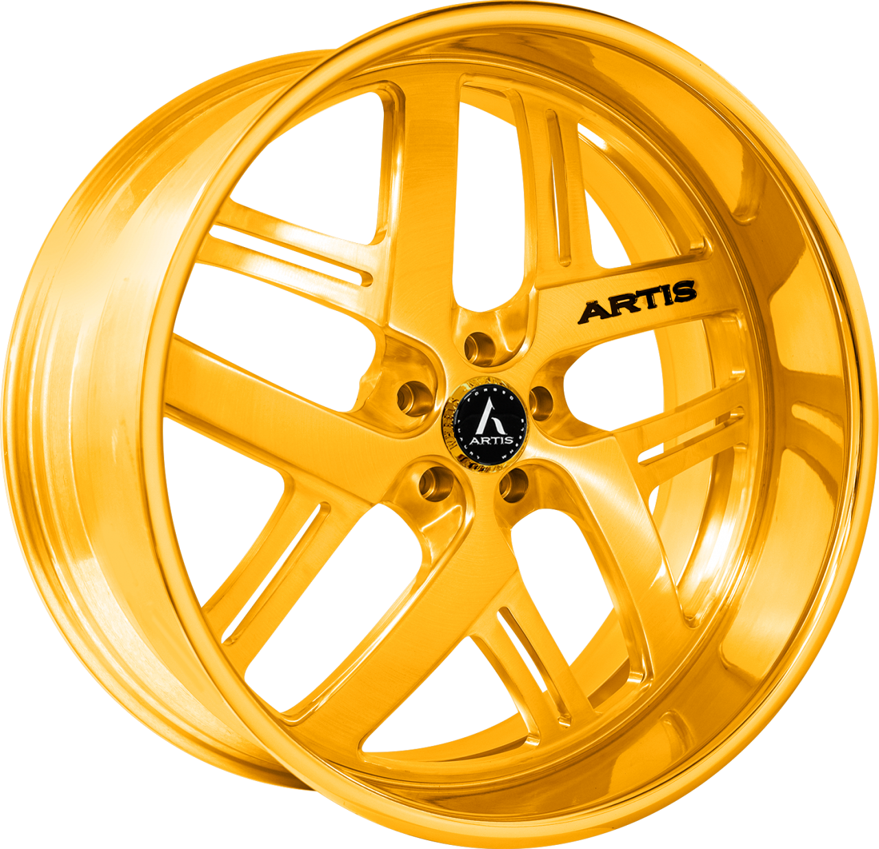 Artis Forged Bomber-M wheel with Gold finish
