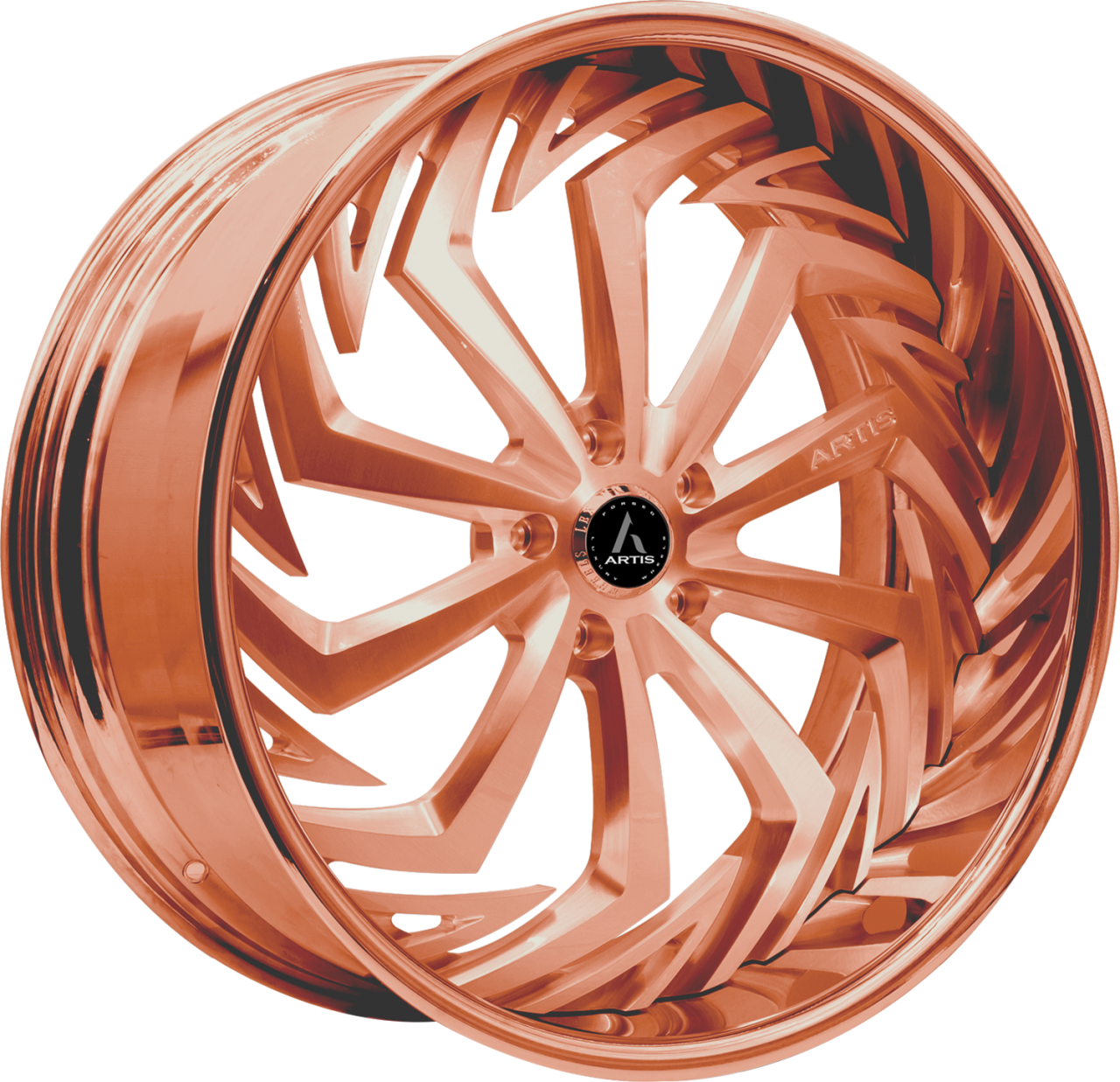 Artis Forged Royal wheel with Custom Rose Gold finish