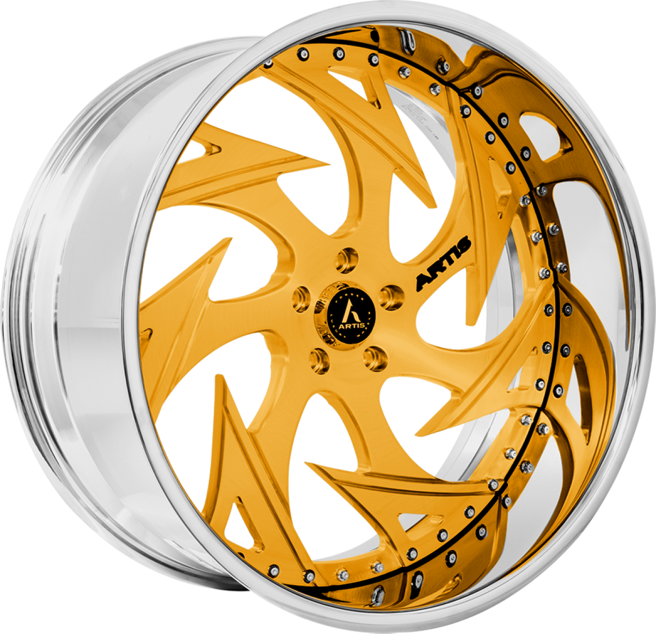 Artis Forged Atomic wheel with Gold finish