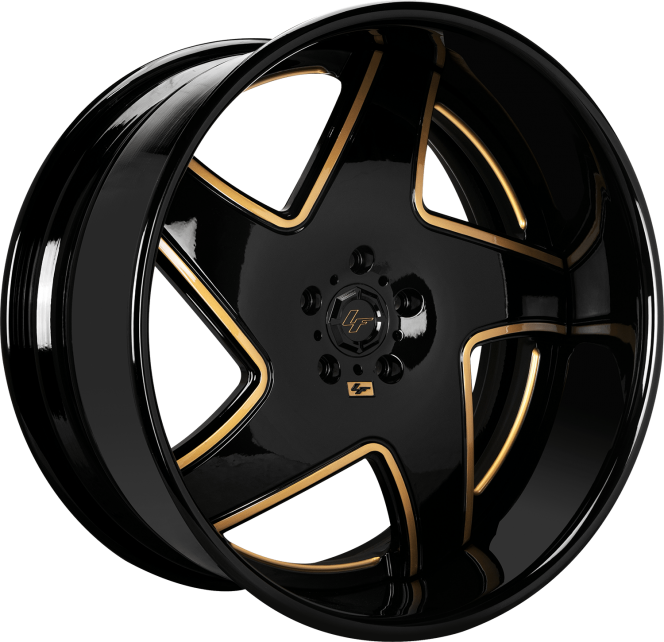 Custom - Gloss Black with Gold Accents
