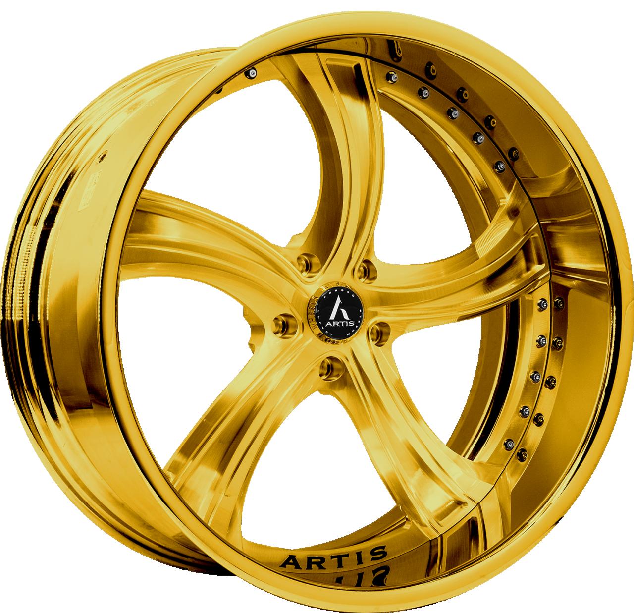 Artis Forged Kokomo wheel with Custom Gold finish