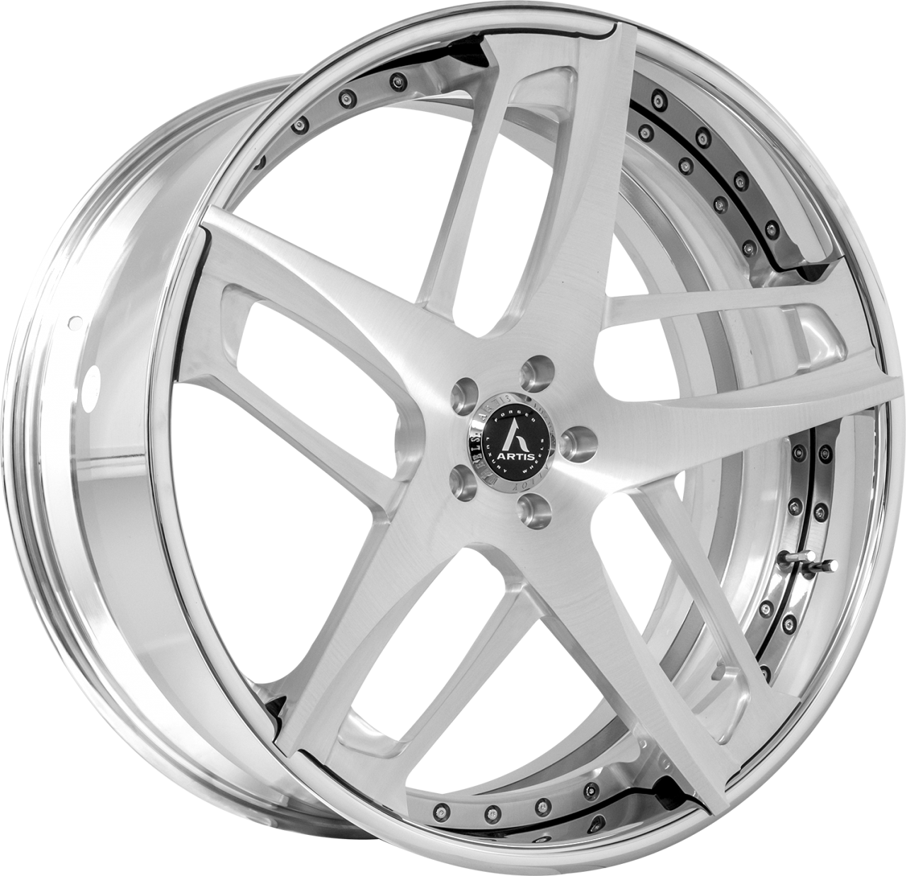 Artis Forged Bavaria wheel with Brushed with XL Floater Cap finish
