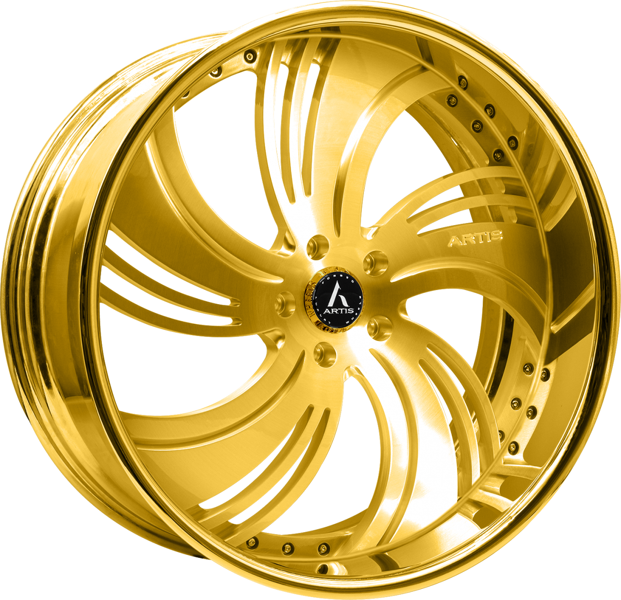 Artis Forged Avenue-M wheel with Gold finish