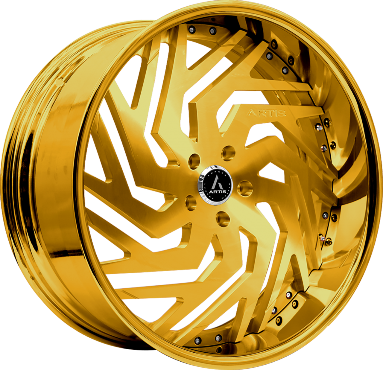 Artis Forged Cicero wheel with Custom Gold finish