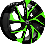 Custom color green and black