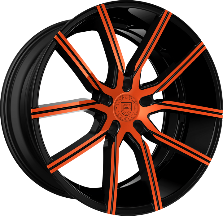 Custom - Orange and Black Finish