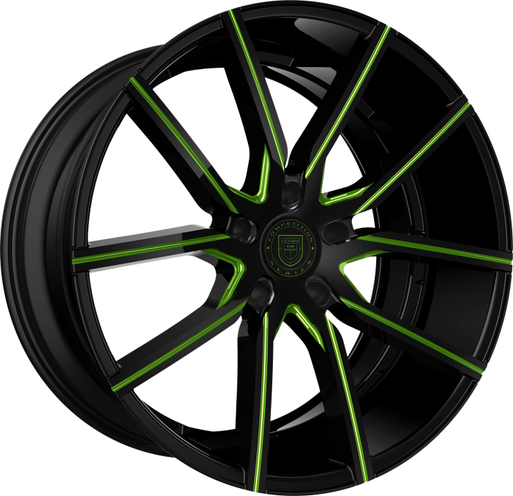 Custom - Gloss Black with Green accents