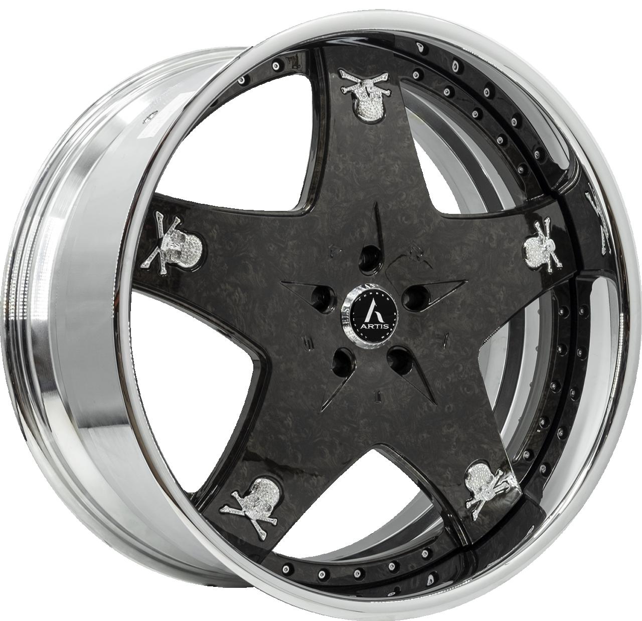 Artis Forged Cashville wheel with Black Burlwood finish