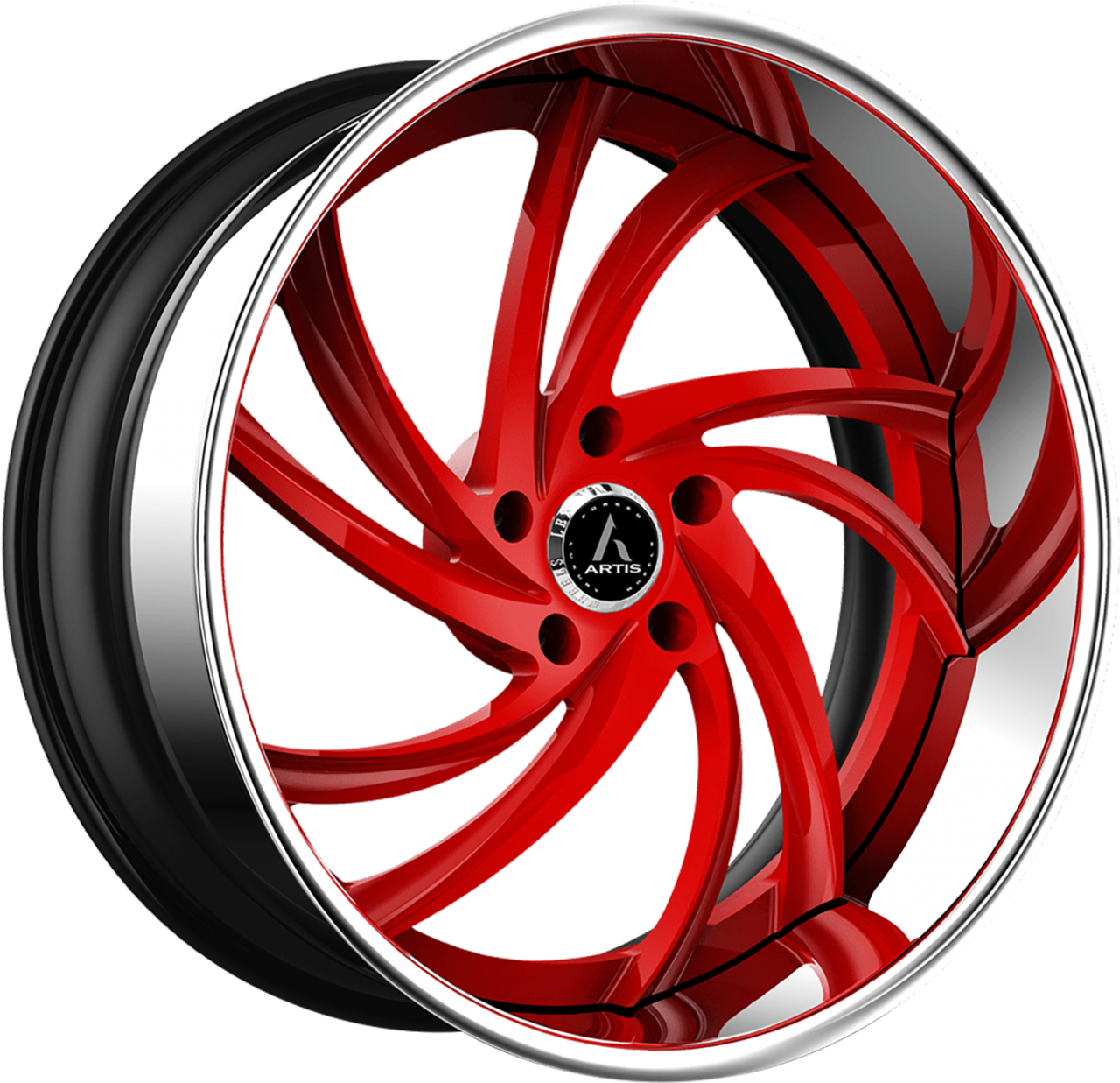 Artis Forged Twister-M wheel with Custom Red finish