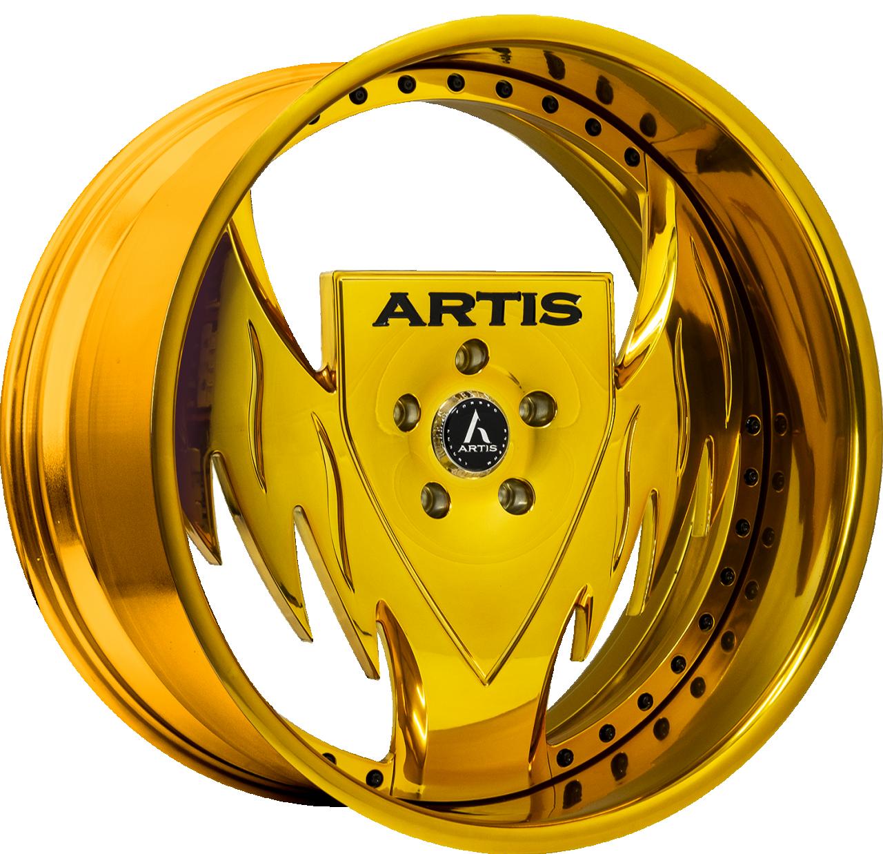Artis Forged Batman wheel with Custom Gold finish