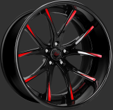 Custom - black and red finish.