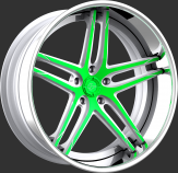 Custom - White and green with a tip accent.
