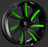 Custom - Black and green finish.