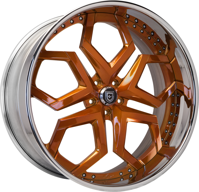 Custom - Orange and Chrome finish.