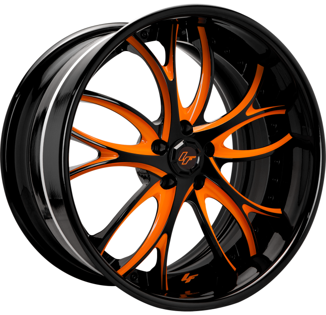 Custom - Orange and Black finish.