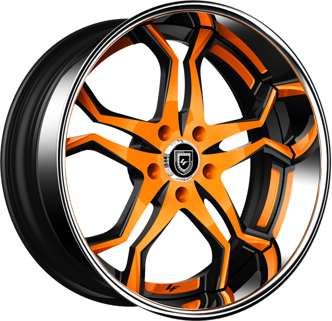 Custom - Black and Orange Finish