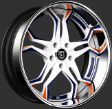 Custom - White, Blue, and Orange Finish