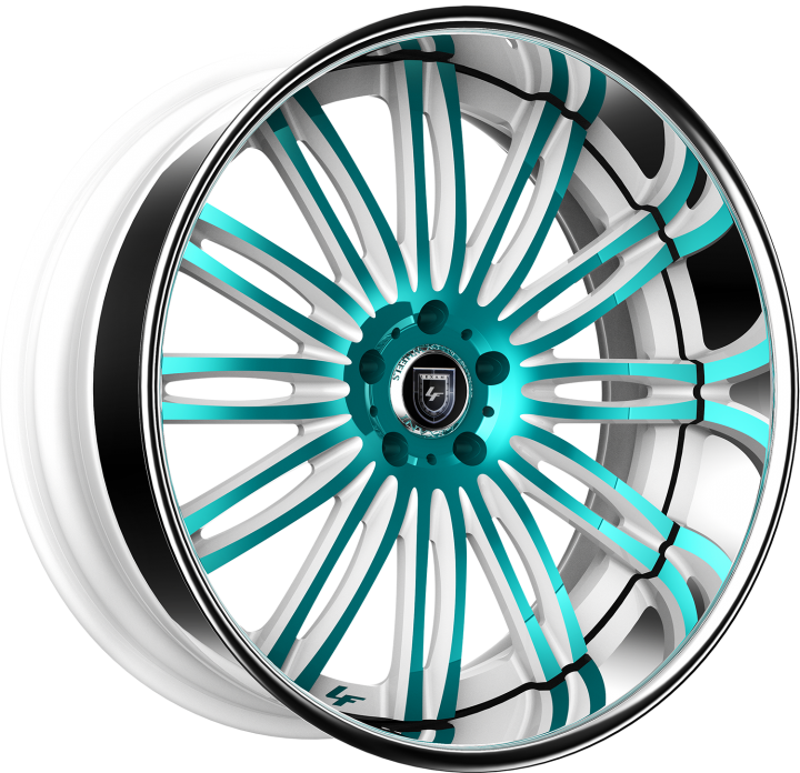 Custom - White and Teal Finish.
