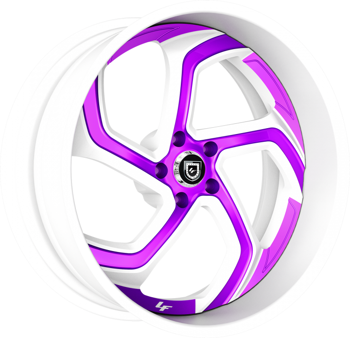 Custom - White with Purple Accents