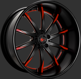 Custom - Flat Black with Red Accents