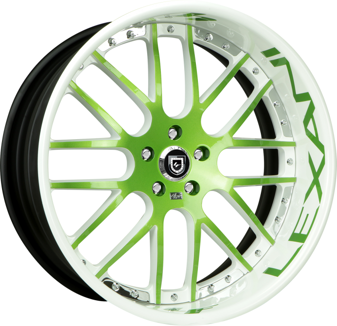 Custom - green and chrome finish.