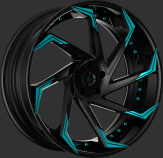 Custom - Black and Teal Finish.