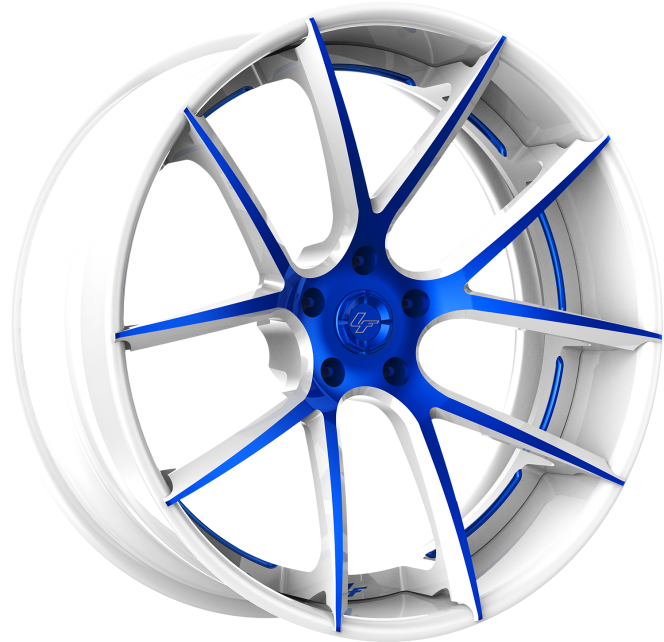 Custom - White and Blue Finish.