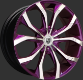 Optional chrome with purple accent.