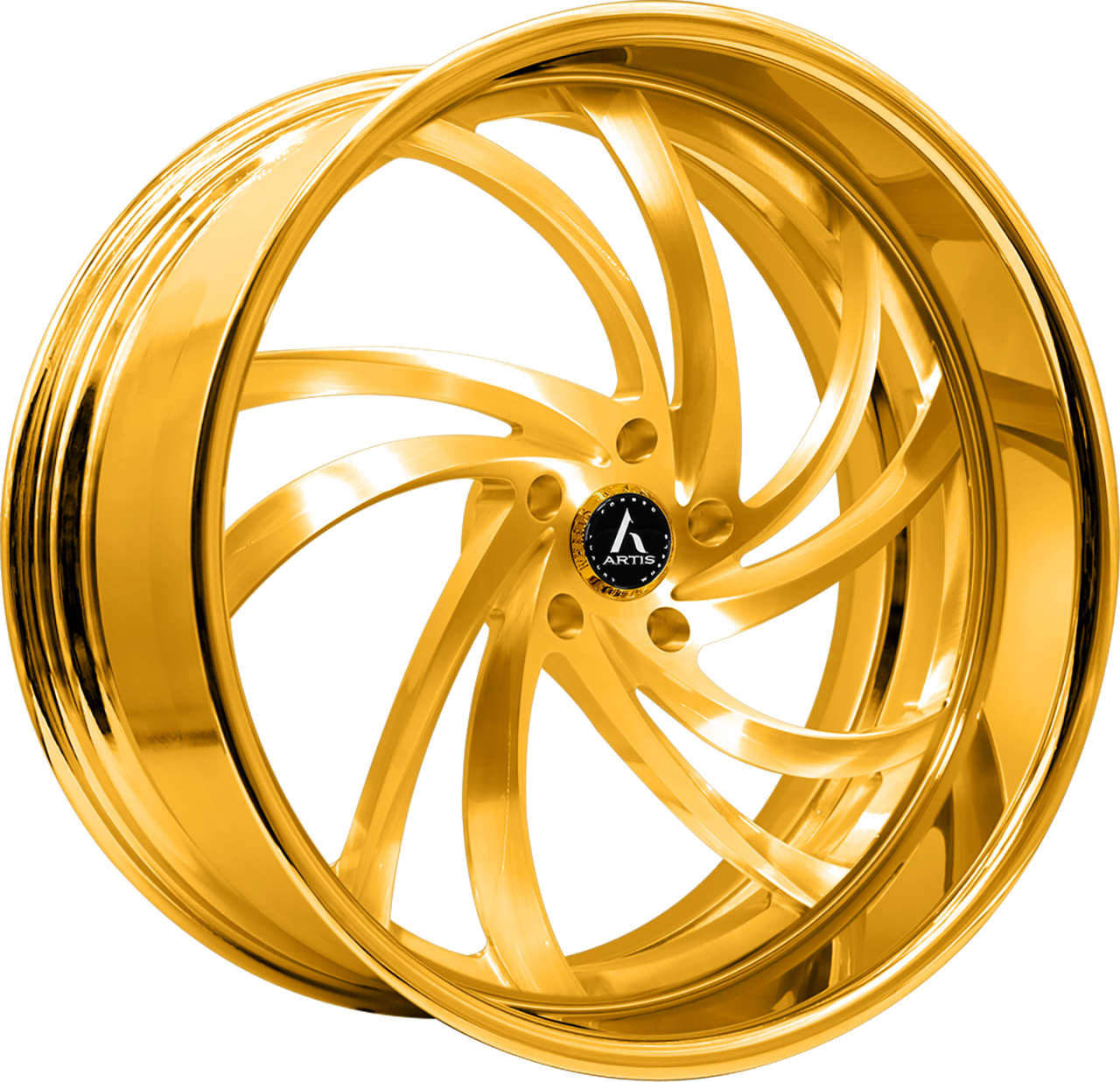 Artis Forged Twister-M wheel with Gold finish