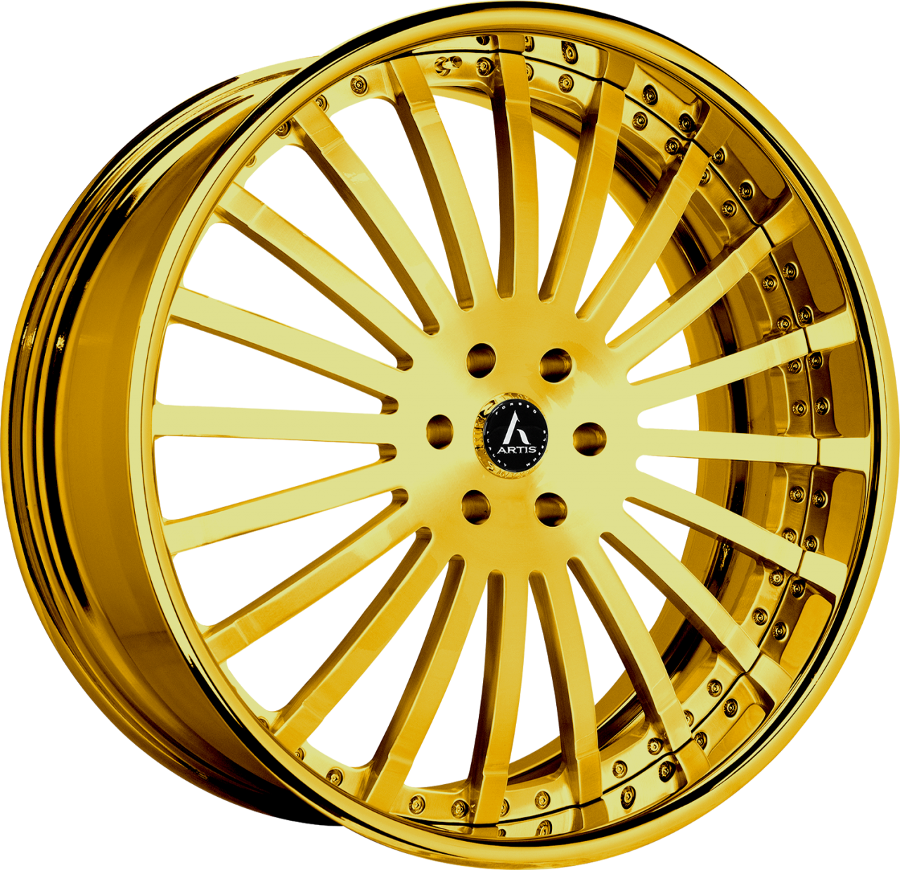 Artis Forged Coronado wheel with Custom Gold finish
