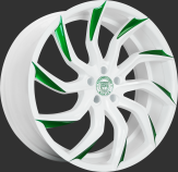Custom - White with Green Tips