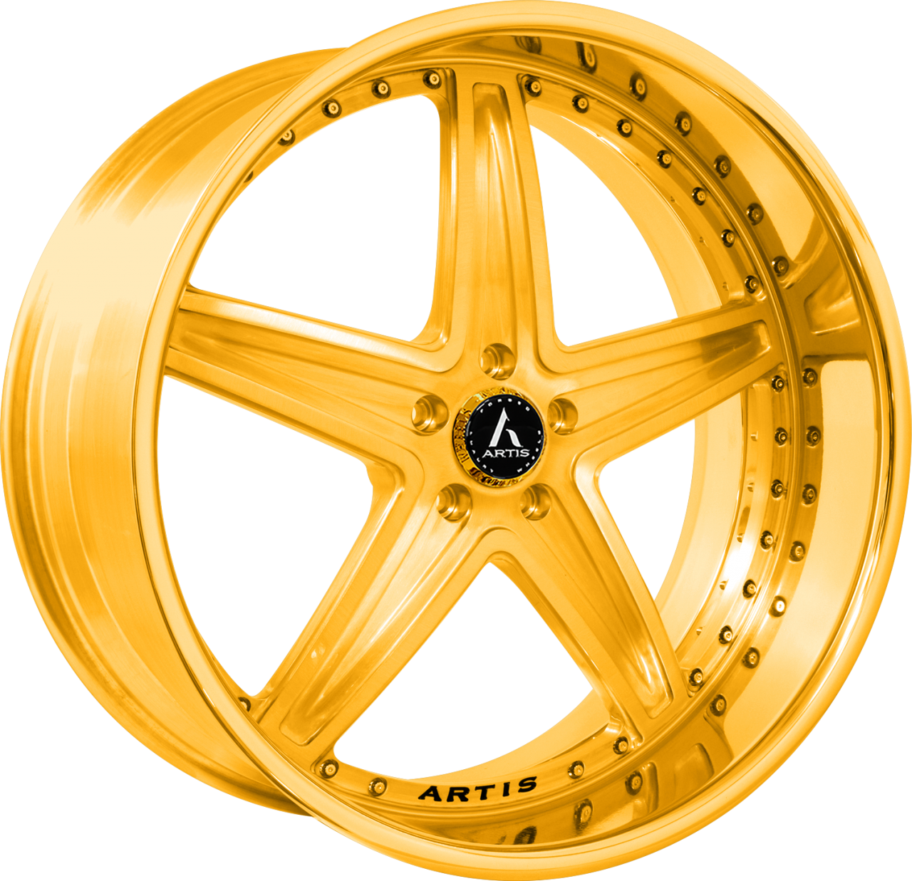 Artis Forged Bayou-M wheel with Gold finish