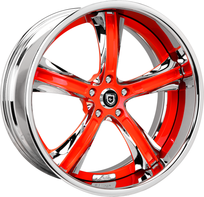 Custom - chrome and red finish.