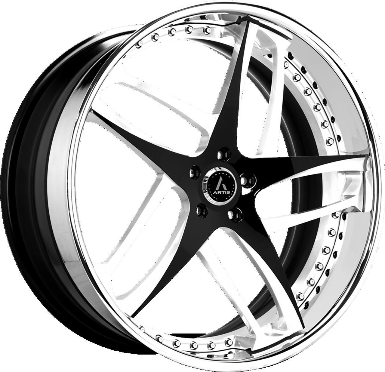 Artis Forged Bavaria wheel with Custom Black and White finish