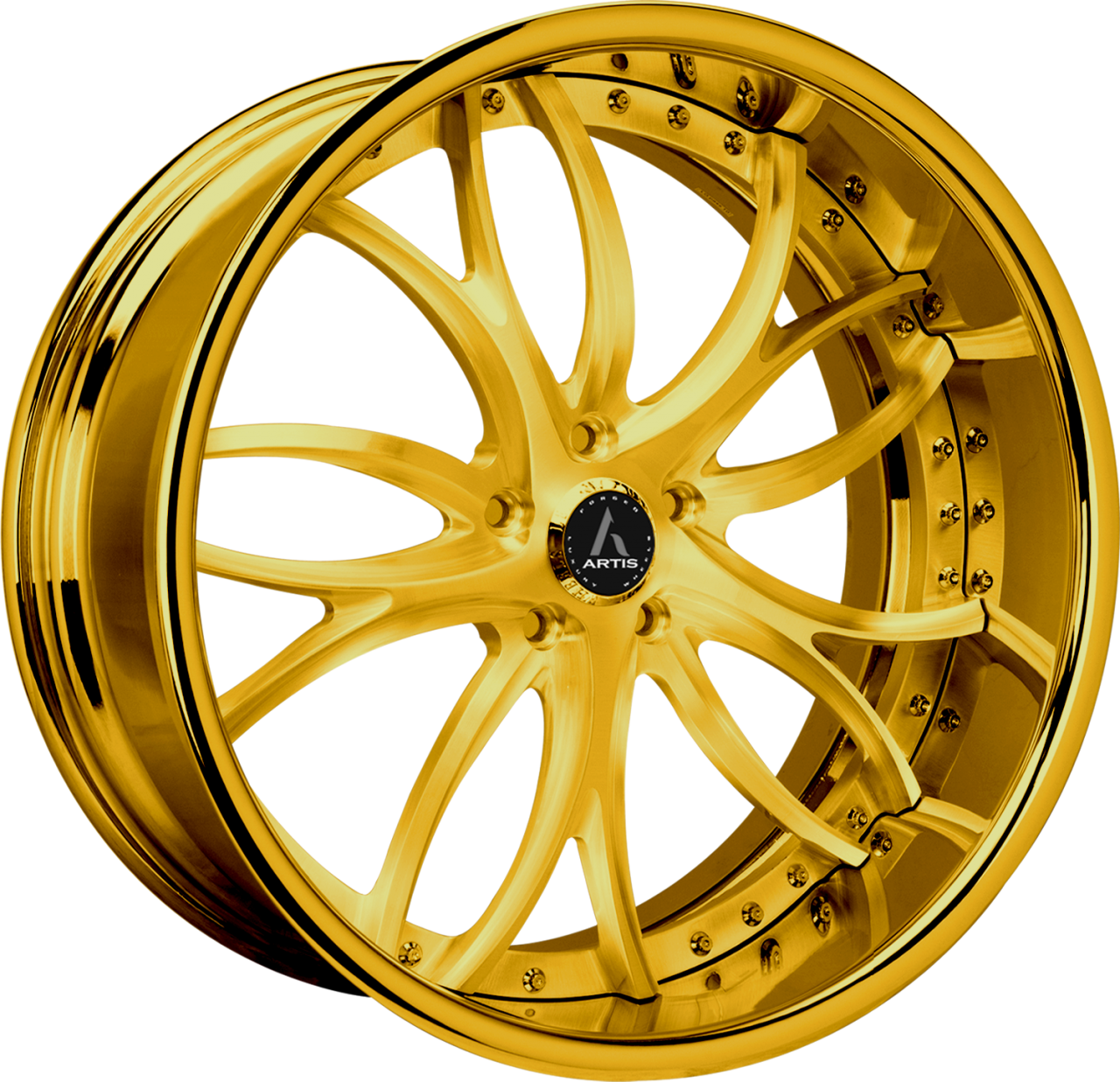 Artis Forged Biscayne wheel with Custom Gold finish
