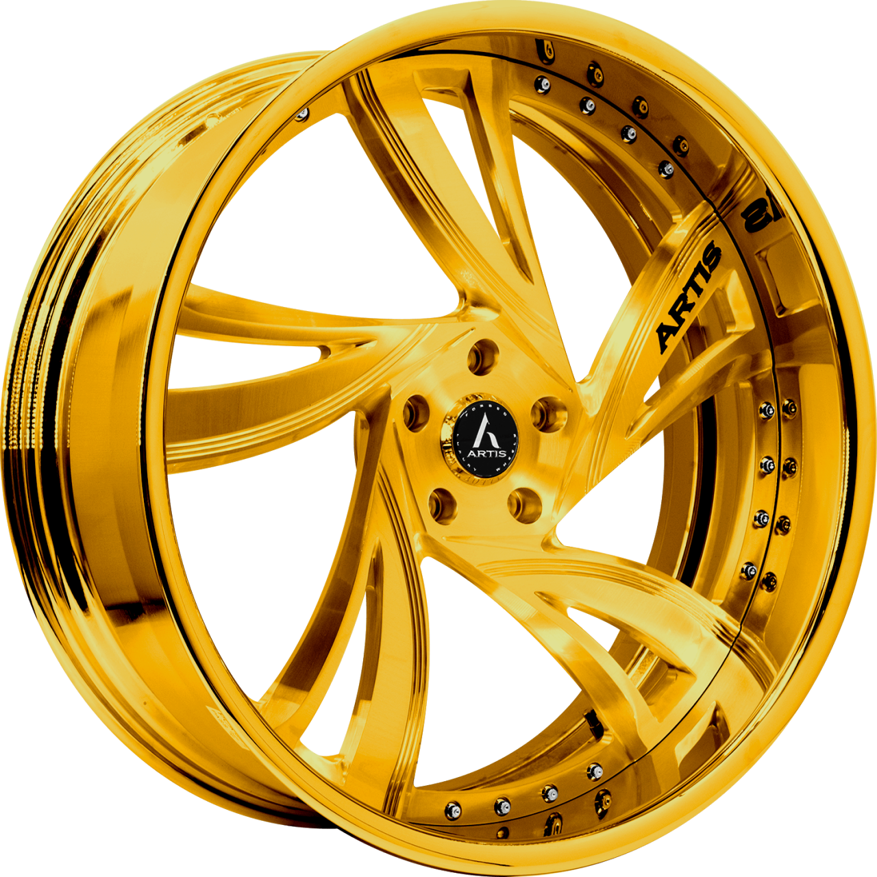 Artis Forged Kingston-M wheel with Gold finish