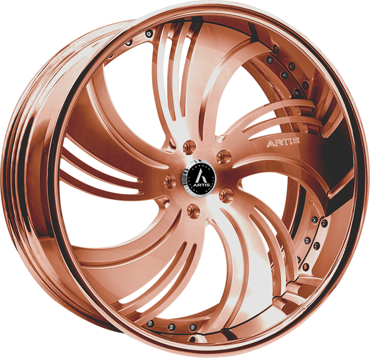 Artis Forged Avenue wheel with Custom Rose Gold finish