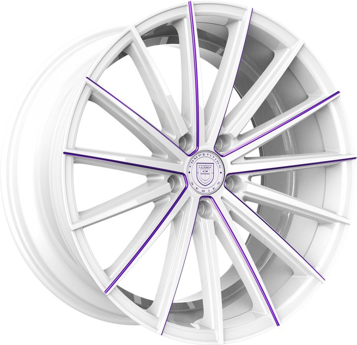 Custom - White and Purple Finish