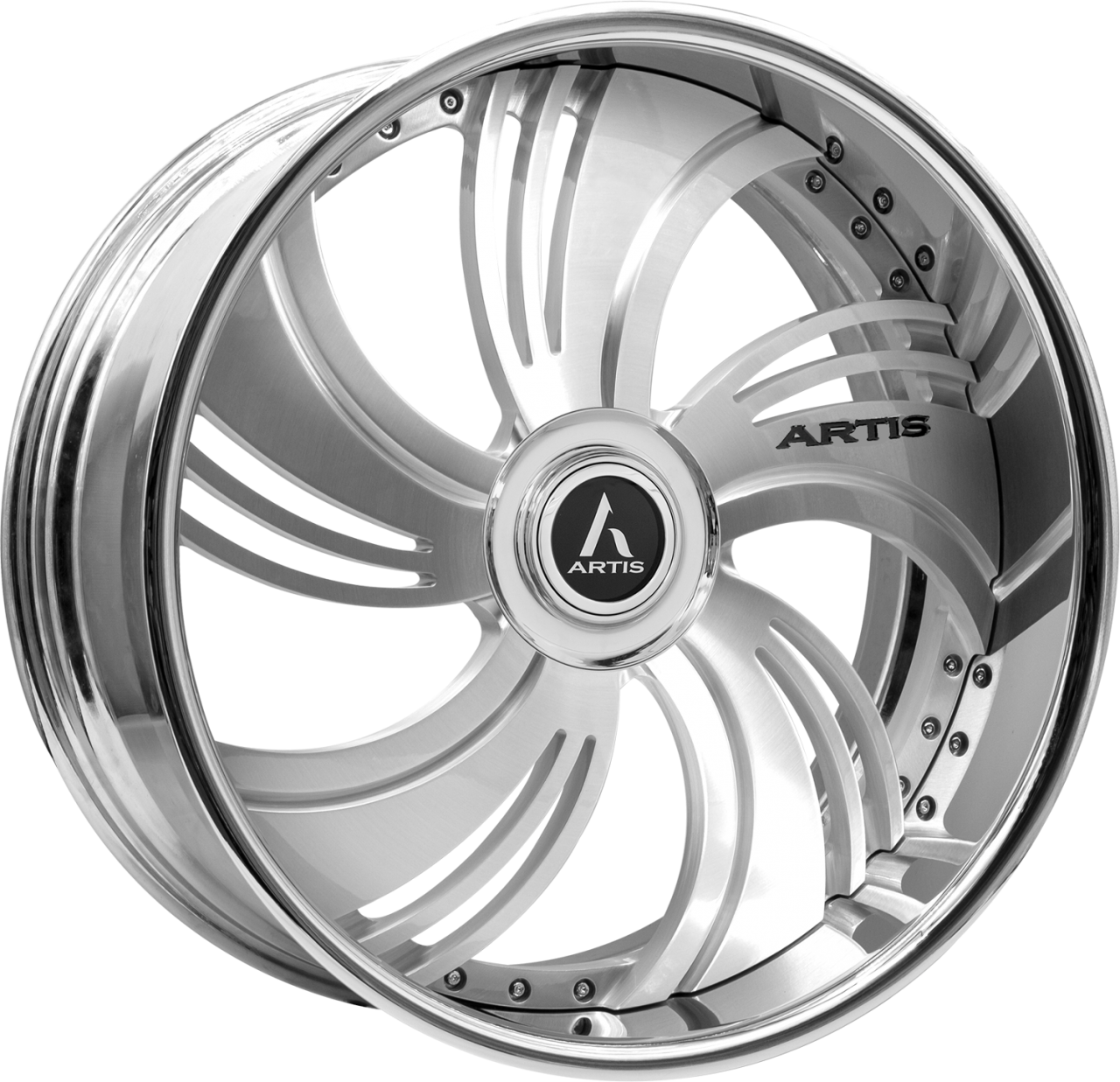 Artis Forged Avenue wheel with Brushed with XL Floater Cap finish