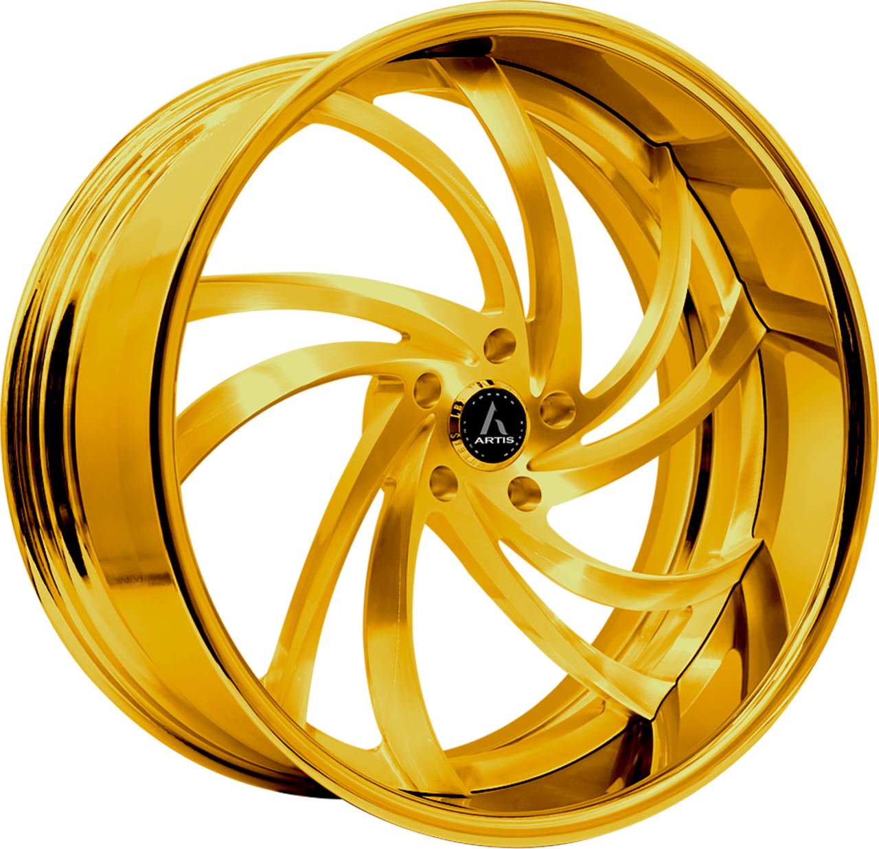 Artis Forged Twister wheel with Custom Gold finish