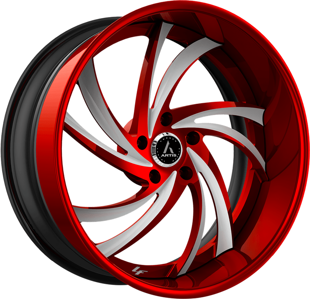 Artis Forged Twister-M wheel with Custom Red and White finish