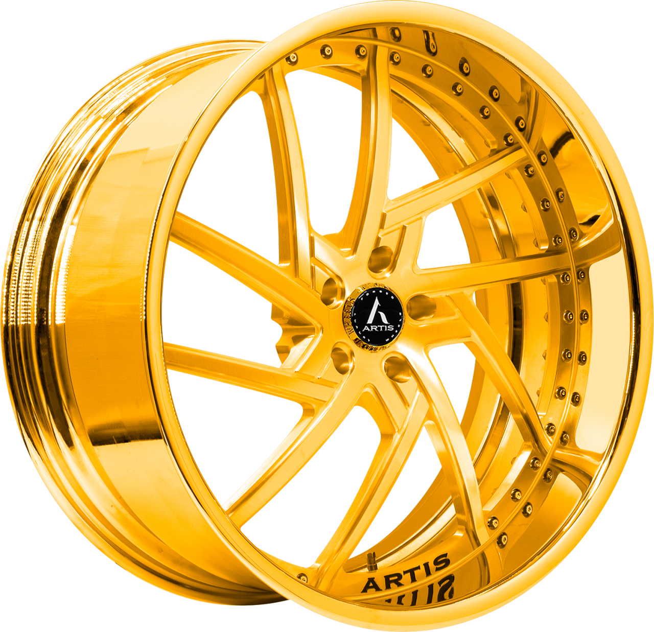 Artis Forged Fairfax-M wheel with Gold finish