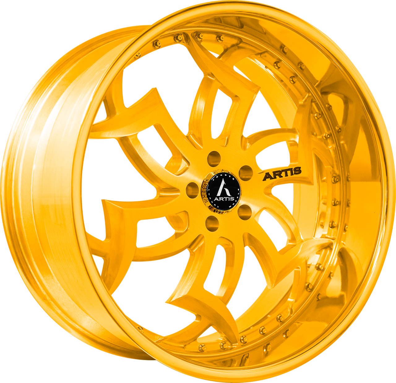 Artis Forged Medusa-M wheel with Gold finish