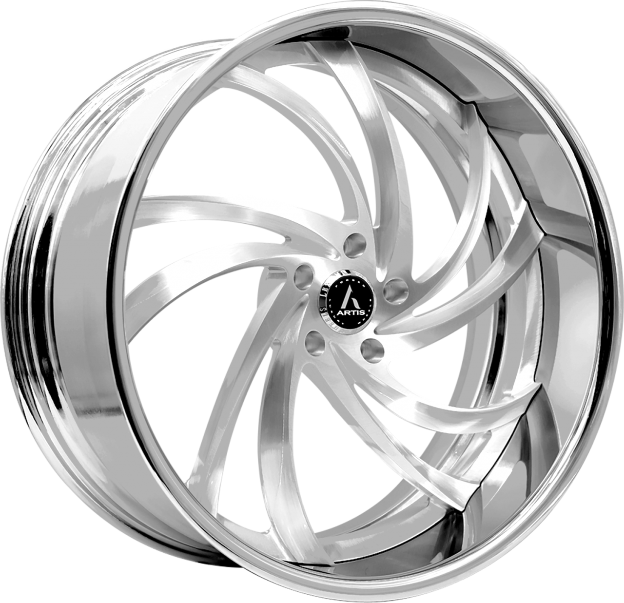 Artis Forged Twister wheel with Brushed finish