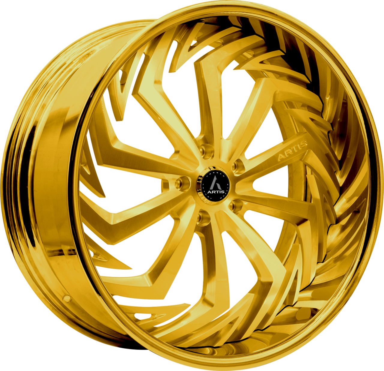 Artis Forged Royal wheel with Custom Gold finish
