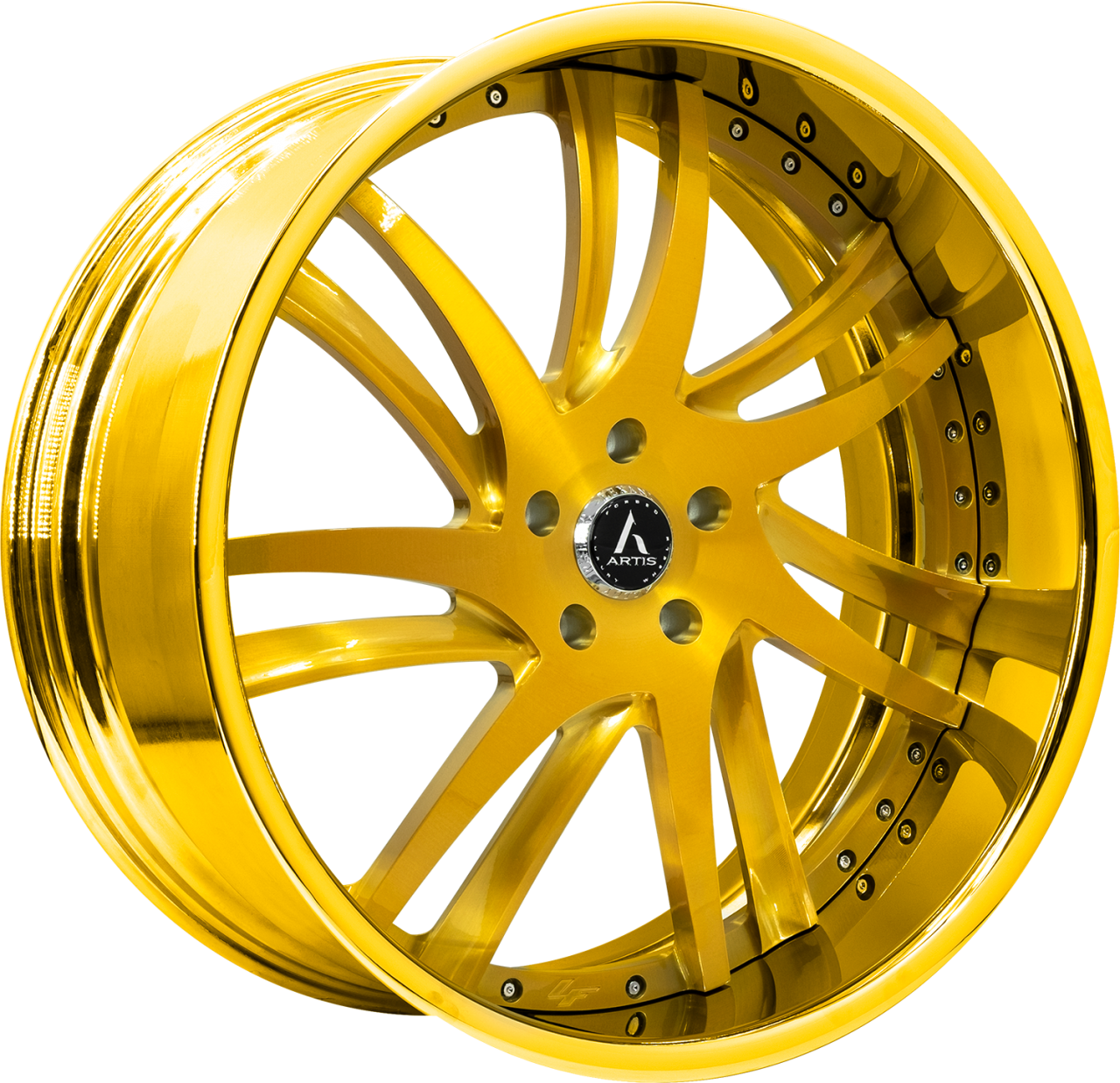 Artis Forged Profile wheel with Gold Finish finish