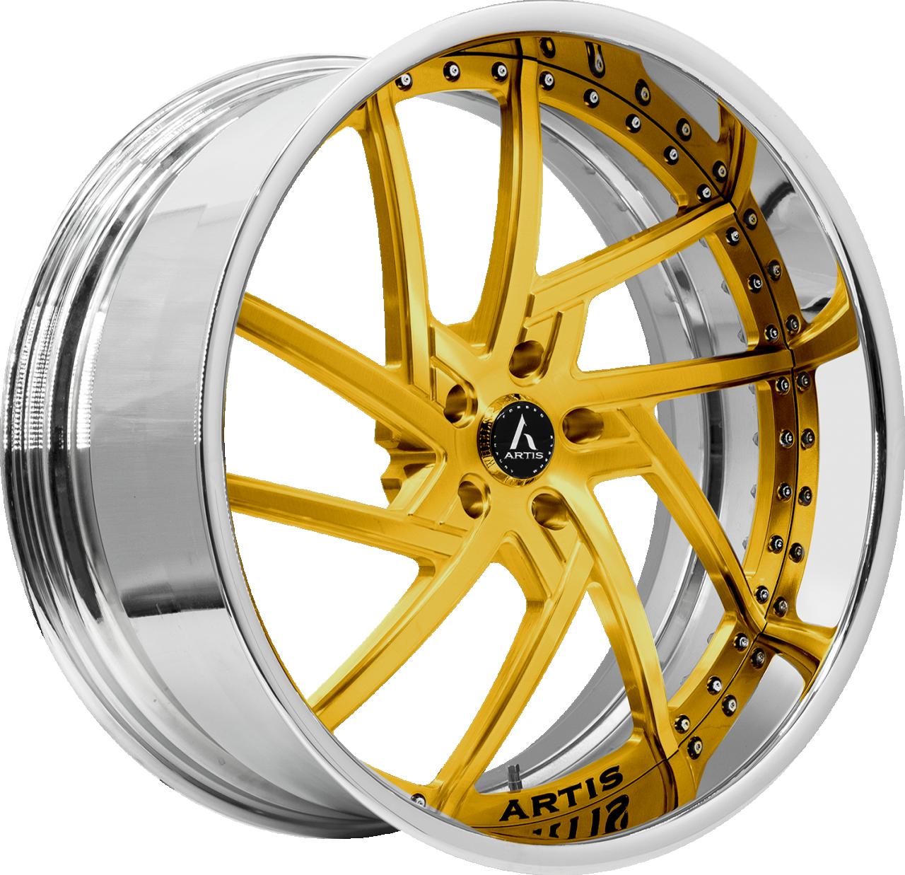 Artis Forged Fairfax wheel with Custom Gold finish